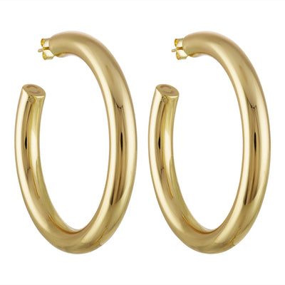 "2.5"" Perfect Hoops in 14K Gold - Machete Jewelry"