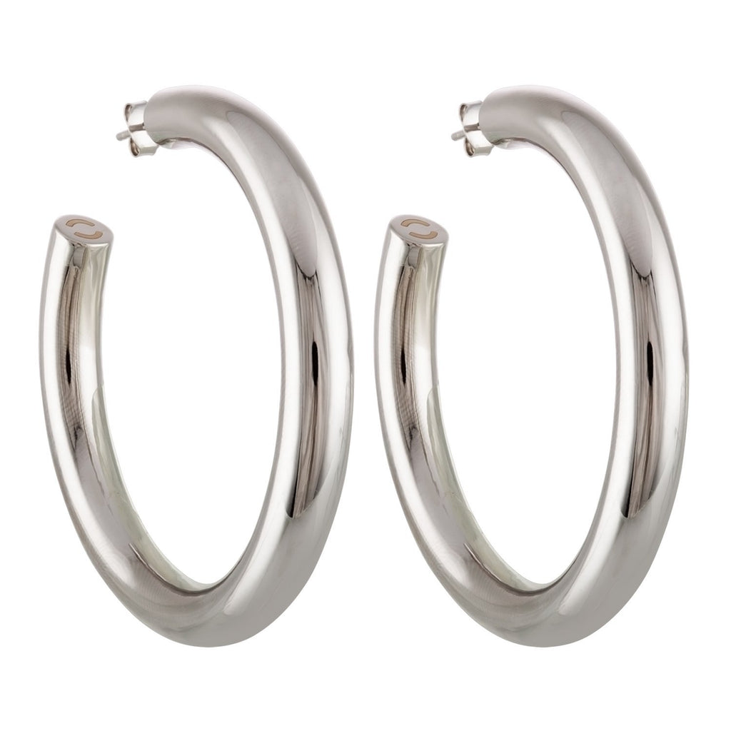 "2.5"" Perfect Hoops in Silver - Machete Jewelry"