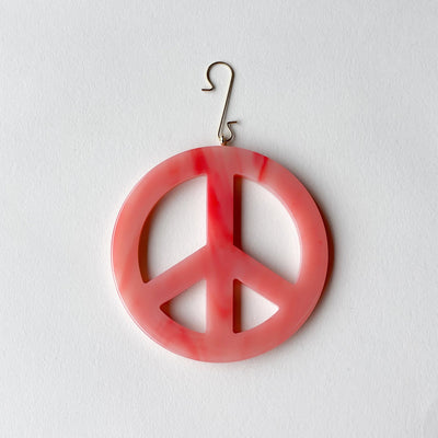 "3"" Peace Ornament in Bright Pink - Machete Jewelry"