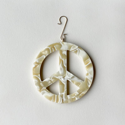 "3"" Peace Ornament in Ivory - Machete Jewelry"
