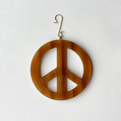 "3"" Peace Ornament inCognac - Machete Jewelry"