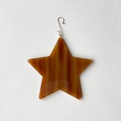 "4"" Star Ornament in Cognac - Machete Jewelry"