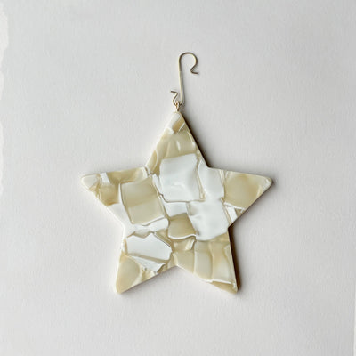 "4"" Star Ornament in Ivory - Machete Jewelry"