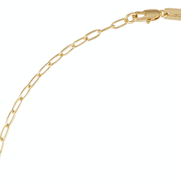 Petite Oval Link Necklace in 14k Gold