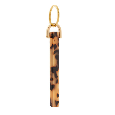 Bar Keychain in Blonde Tortoise - Machete Jewelry