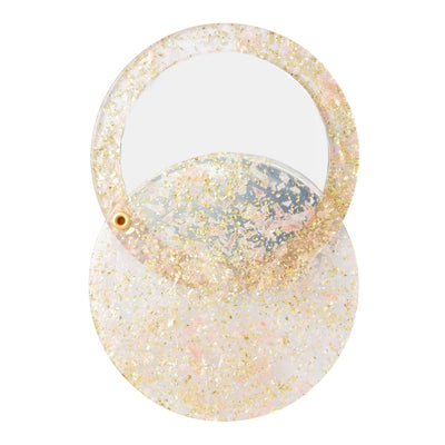 Circle Mirror in Glitter - Machete Jewelry