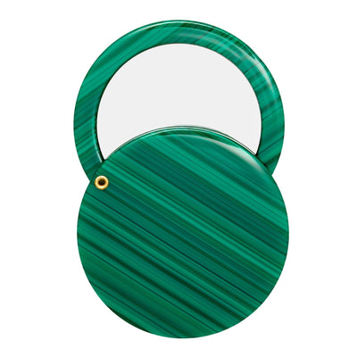 Circle Mirror in Malachite - Machete Jewelry