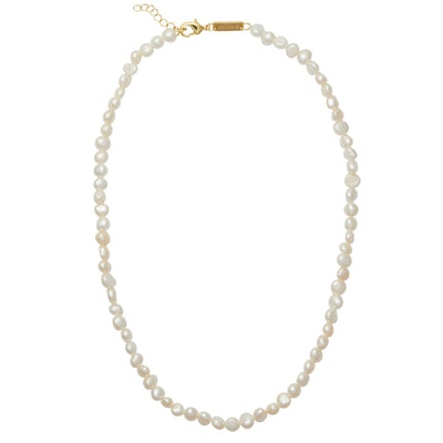 Freshwater Pearl Necklace in White - Machete Jewelry