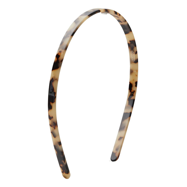 Headband in color Blonde Tortoise tan and black.