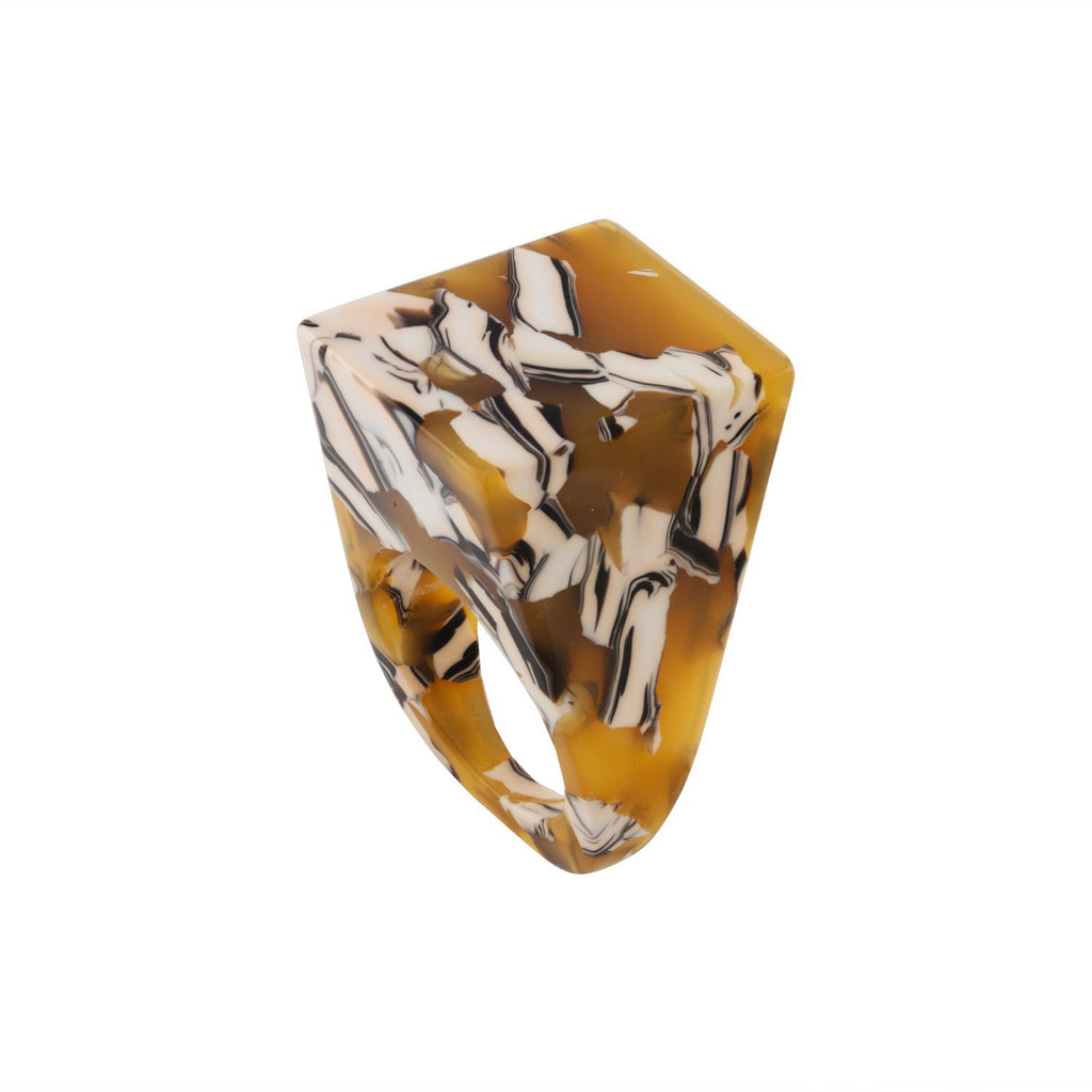 Icon Statement Ring in Calico - Machete Jewelry
