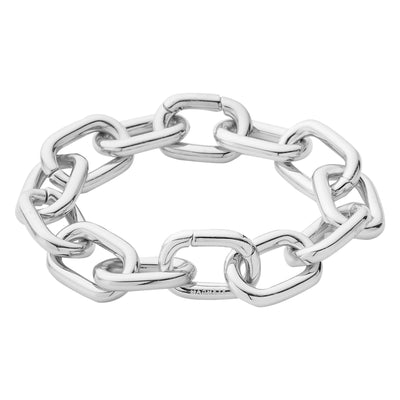 Interchangeable Statement Link Bracelet in Silver - Machete Jewelry