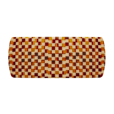 Jumbo Box Clip in Tortoise Checker - Machete Jewelry