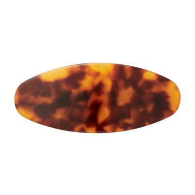 Jumbo Oval Clip in Amber - Machete Jewelry