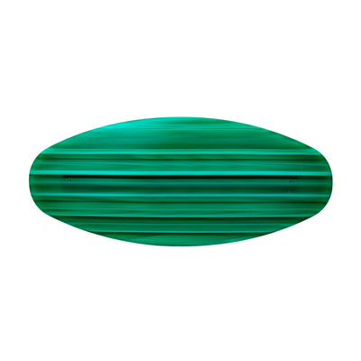 Jumbo Oval Clip in Malachite - Machete Jewelry