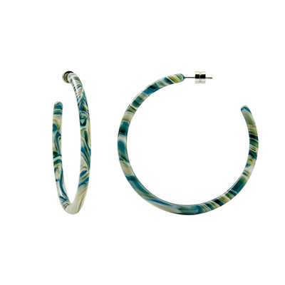 Large Hoops in Stromanthe - Machete Jewelry