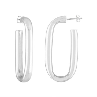 Machete maya hoop earrings in sterling silver-1