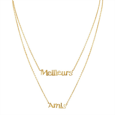 Meilleurs Amis / Best Friend Necklace in Gold - Machete Jewelry