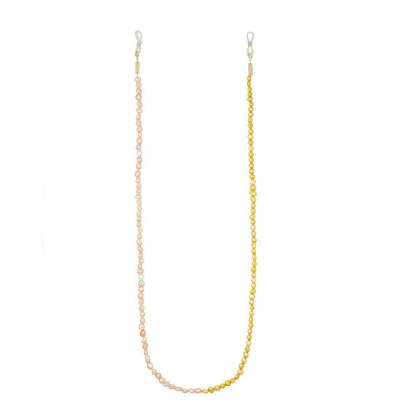 Mixed Freshwater Pearl Sunglass Chain in Yellow + Pink - Machete Jewelry