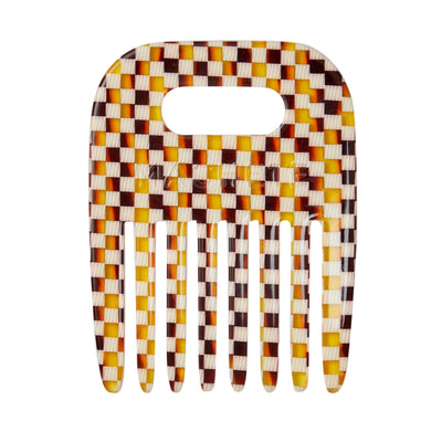 No. 4 Comb in Tortoise Checker - Machete Jewelry