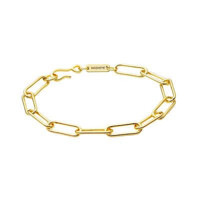 Paperclip Chain Bracelet in Gold - Machete Jewelry