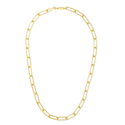 Paperclip Chain Necklace in Gold - Machete Jewelry
