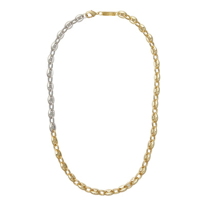Petite Coffee Bead Necklace in 3/4 Gold - Machete Jewelry