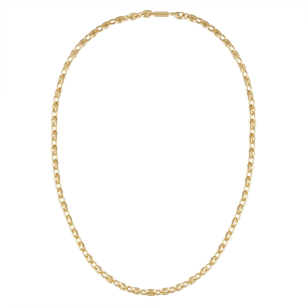 Petite Coffee Bead Necklace in Gold - Machete Jewelry