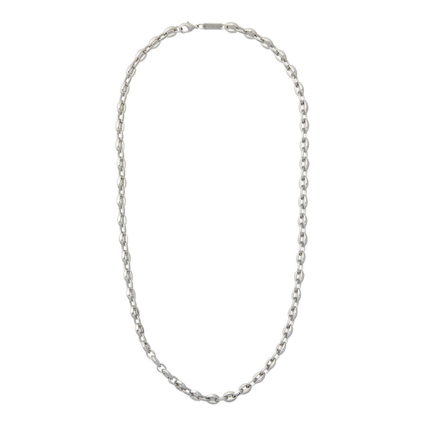 Petite Coffee Bead Necklace in Silver - Machete Jewelry