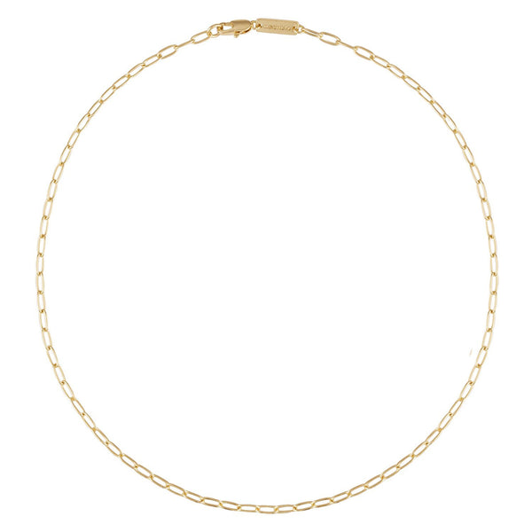 Petite Oval Link Necklace in 14k Gold - Machete Jewelry