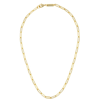 Petite Paperclip Chain Necklace in Gold - Machete Jewelry