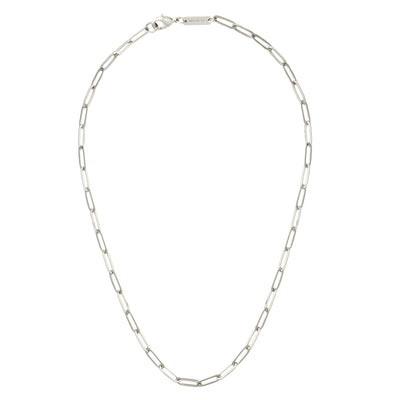Petite Paperclip Chain Necklace in Silver - Machete Jewelry