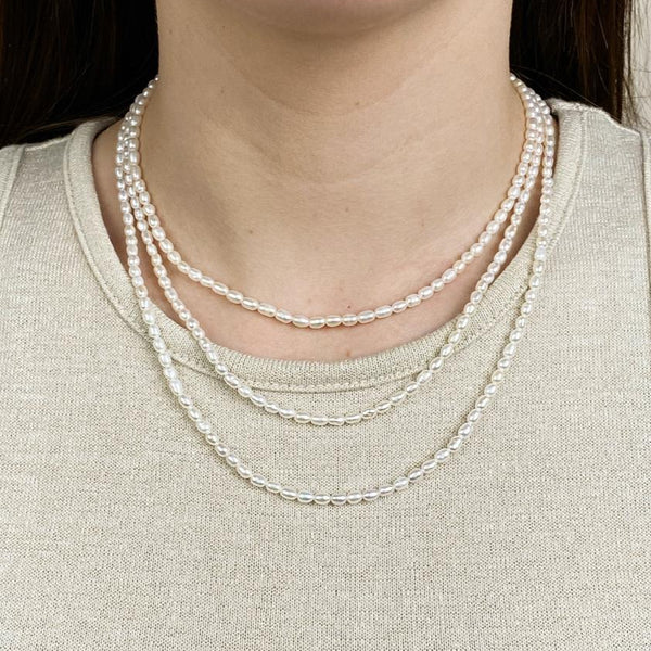 Rice Pearl Necklace - Machete Jewelry