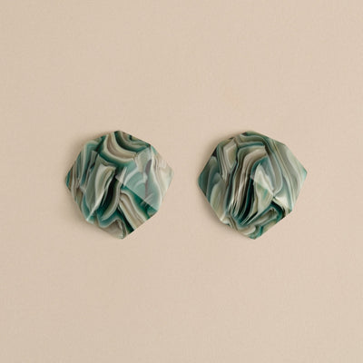 Sculpture Studs in Stromanthe - Machete Jewelry