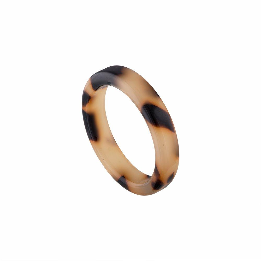 Thin Stack Ring in Blonde Tortoise - Machete Jewelry