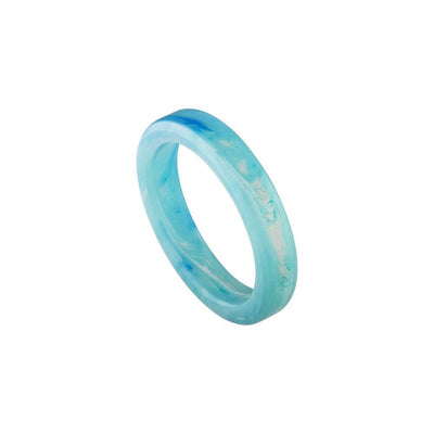 Thin Stack Ring in French Coast Blue - Machete Jewelry