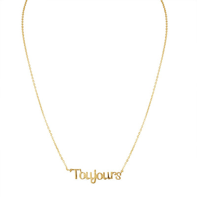 Toujours Necklace in Gold - Machete Jewelry