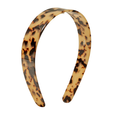 Wide Headband in Blonde Tortoise - Machete Jewelry