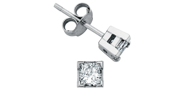 Princess Cut Diamonds - 18KT-W - MLD