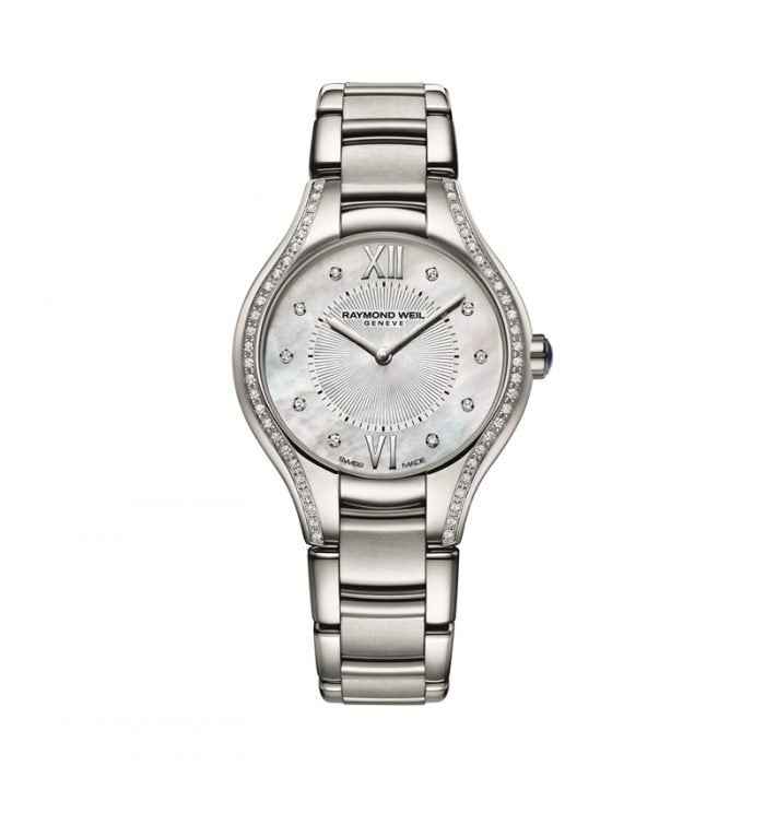 Noemia Mother of Pearl Dial Silver-Tone Stainless Steel