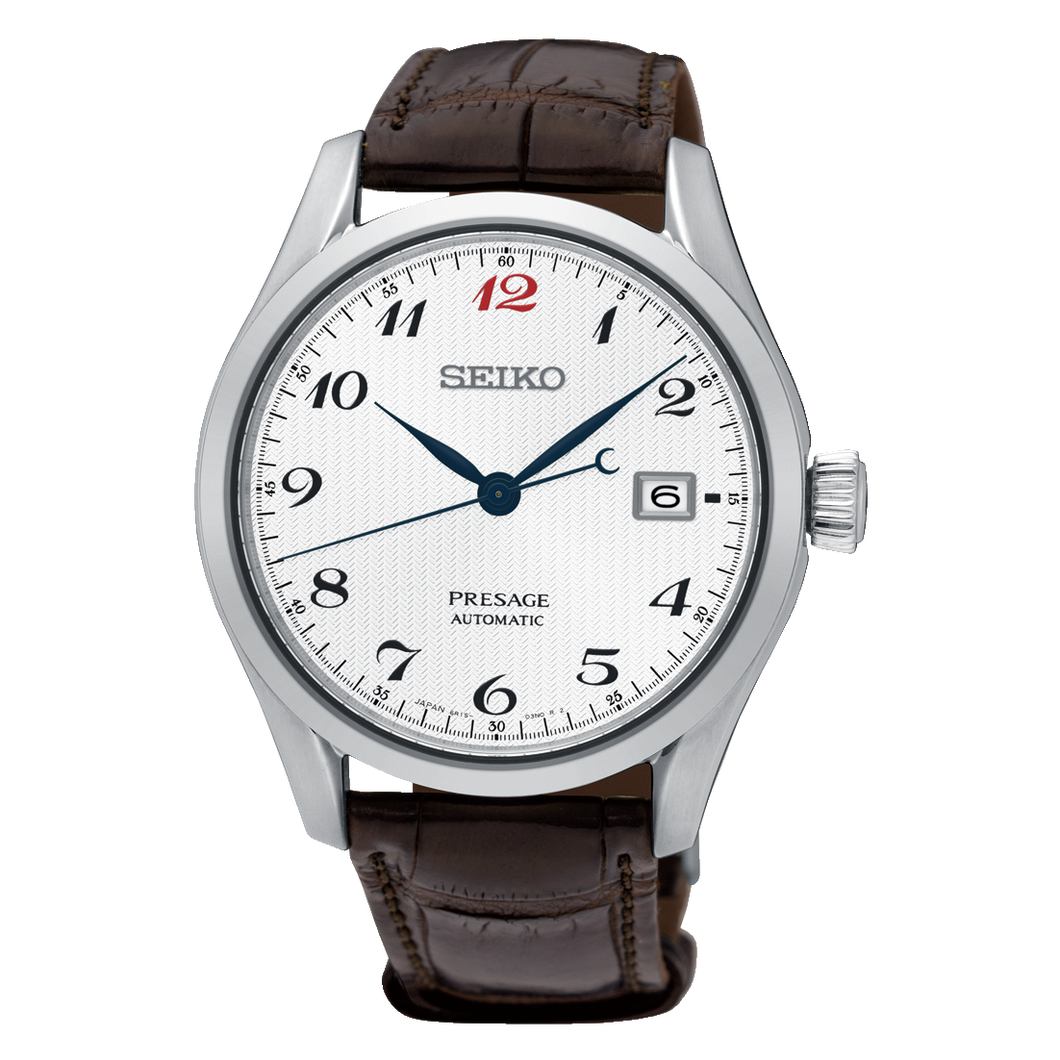 Presage Automatic White Dial Leather Band
