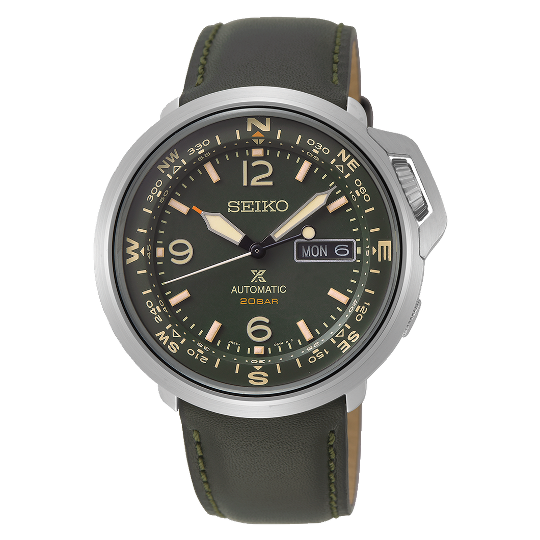 Prospex Field Automatic Khaki Green Dial Leather Band