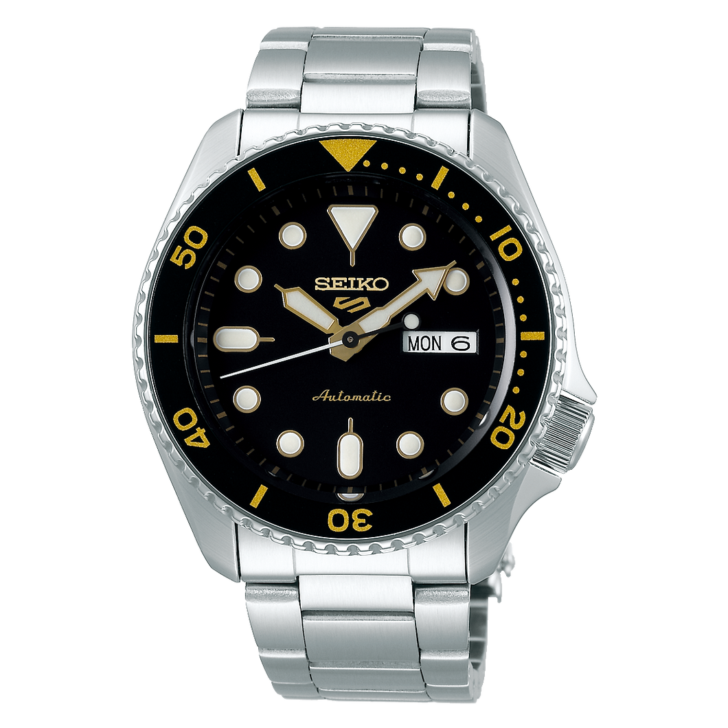 Seiko 5 Sports Automatic Black Dial Stainless Steel