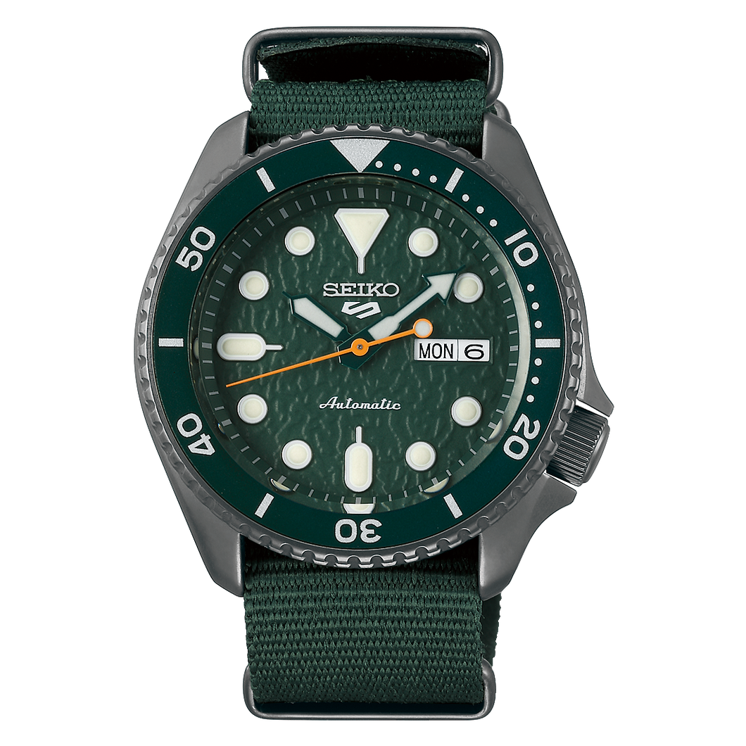 Seiko 5 Sports Automatic Green Dial Nylon Band