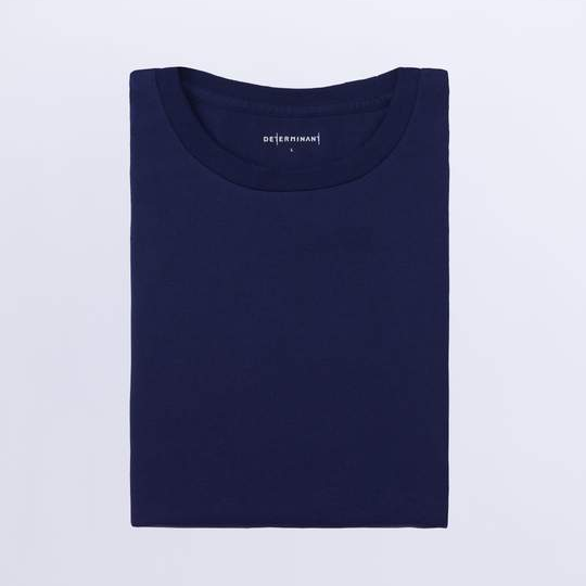 super soft t-shirt in navy; designed for the everyday, designed to last