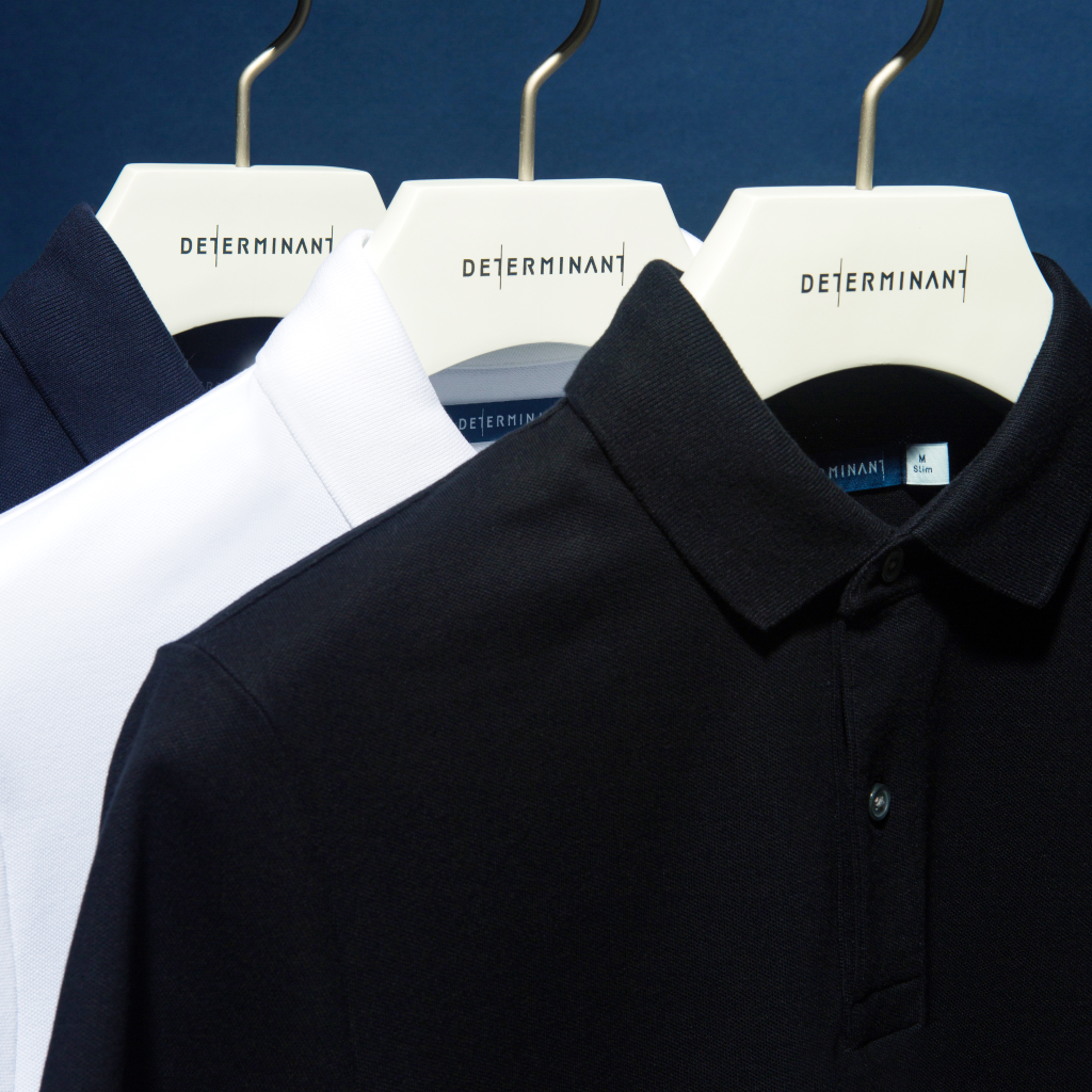 Soft and comfortable polos from determinant