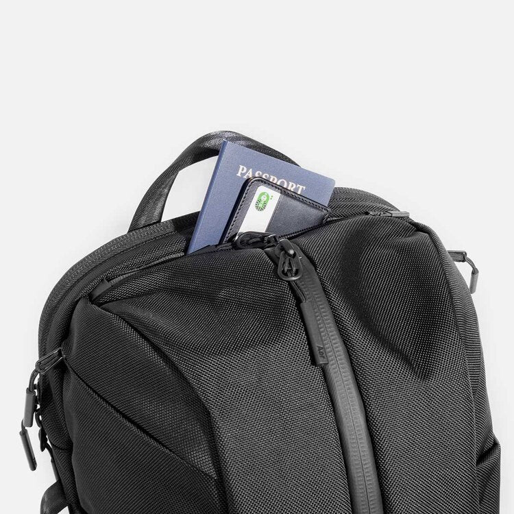 quick-access top and side pocket