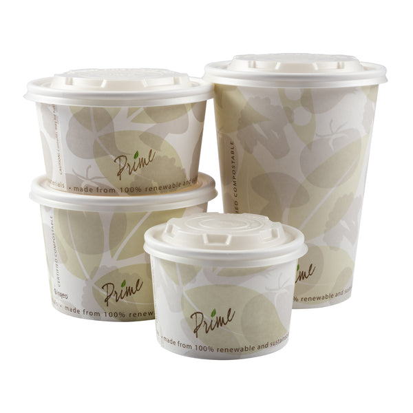 Compostable Hot Food Containers & Lids