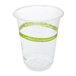 16 oz. Clear PLA Compostable Cups, Case of 1,000