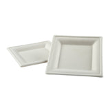 "6"" Square Heavy Molded Fiber Plates"