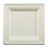 "8"" Square Heavy Molded Fiber Plate"